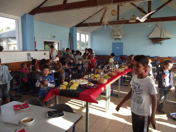 Centre de vacances : Pénestin, vacances, classes, colonie, repas à l'intérieur