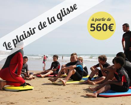 Colonie de vacances, centre, été, Les Sables, surf, oul 2017
