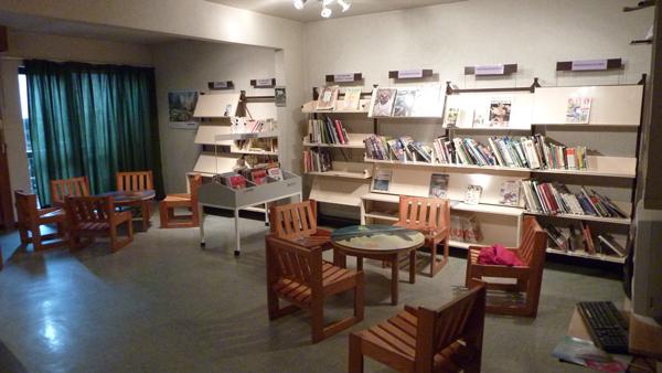Centre de Combloux, vacances, classes, colonie, bâtiments : bibliothèque