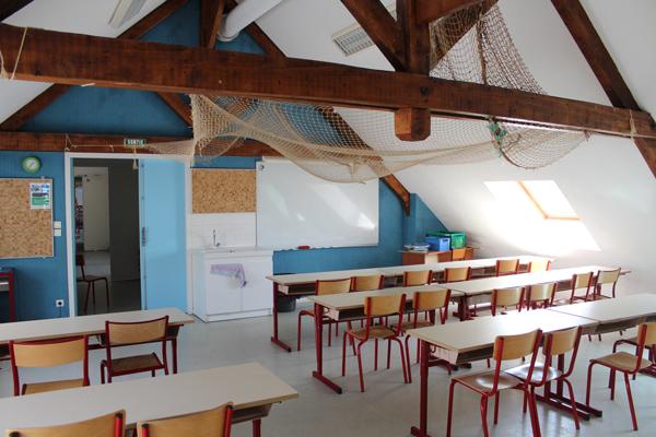 Centre de vacances, les Sables d'Olonne, vacances, classes, colonie : salle de classe