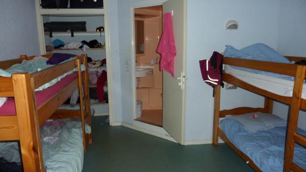 Colonie de vacances, séjours, classes de découvertes, vacances en famille, Sollières : une chambre