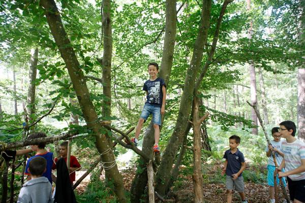 Colonie de vacances, séjours vacances, enfants, jeux dans la forêt, été 2015