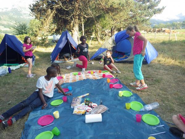 Colonie de vacances, séjours vacances, Lans en Vercors, enfants, bivouac : été