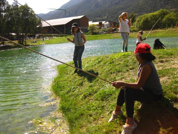 Colonie de vacances, séjours vacances, Sollières, pêche, été