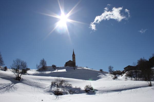 Centre, colonies, vacances, camps, neige, hiver, ski, Sollières : le village 2