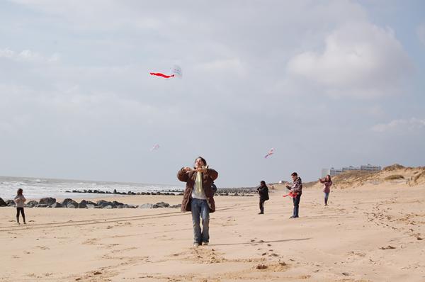 Classe de découvertes, centre vacances, classe de mer, saint Jean de Monts : le vent