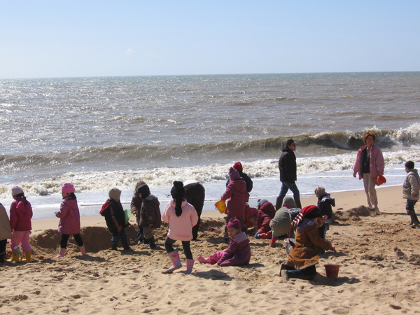 Classe de découvertes, centre vacances, classe de mer, saint Jean de Monts : la plage