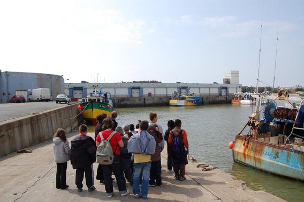 Classe de découvertes, centre vacances, classe de mer, saint Jean de Monts : le port