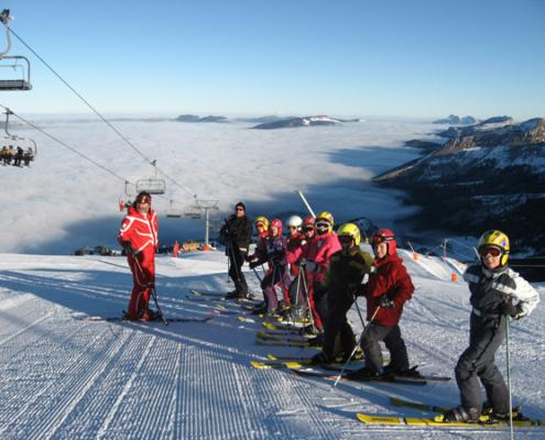Classe de découvertes, centre vacances, classe de neige, Lans en Vercors : ski alpin