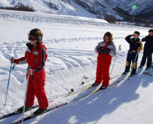 Classe de découvertes, centre vacances, classe de neige, Sollières, ski alpin