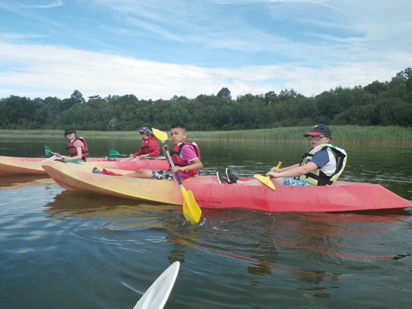 Colonie de vacances, séjour printemps : canoë 2, enfants, Oeuvre Universitaire du Loiret