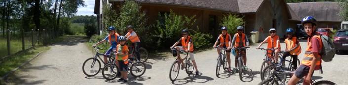 Colonie de vacances, séjour printemps, enfants, Oeuvre Universitaire du Loiret : VTT 2