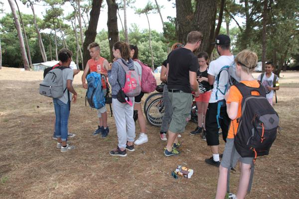 Colonie de vacances, séjours vacances, enfants, oul, sortie vélo, Les Sables d'Olonne : été 2017