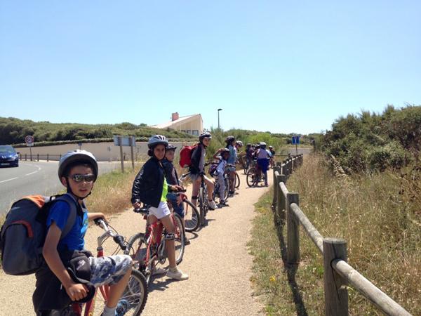 Colonie de vacances, séjours vacances, enfants, oul, Les Sables d'Olonne, sortie vélo 2 : été 2017