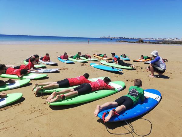 Colonie de vacances, séjours, vacances enfants, oul Les Sables d'Olonne, surf, été, 2020