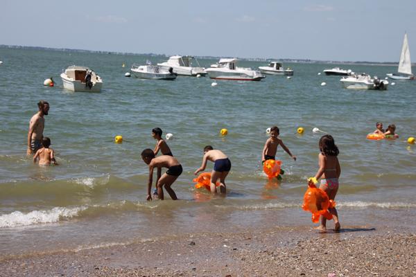 Colonie de vacances, séjours vacances, enfants, oul, Penestin : baignade été 2017