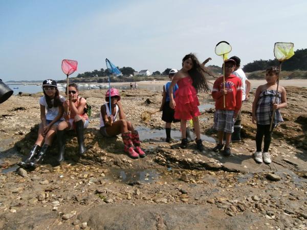Colonie de vacances, séjours vacances, enfants, oul, Penestin : pêche à pied 2 été 2017