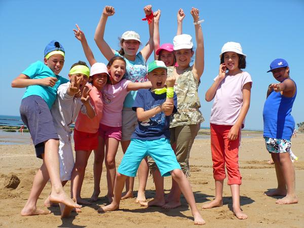 Colonie de vacances, séjours vacances, enfants, oul, Penestin : plage 1, été 2017