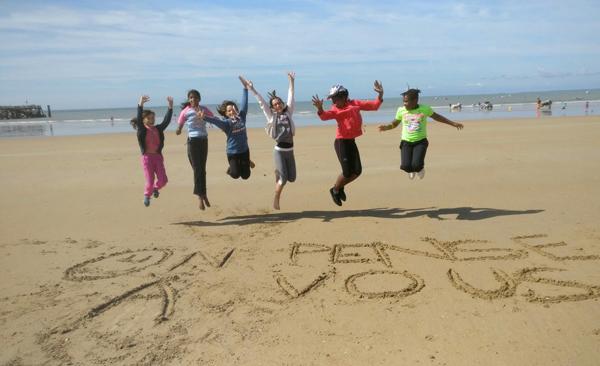 Colonie de vacances, séjours vacances, enfants, oul, St Jean de Monts, plage, été 2017