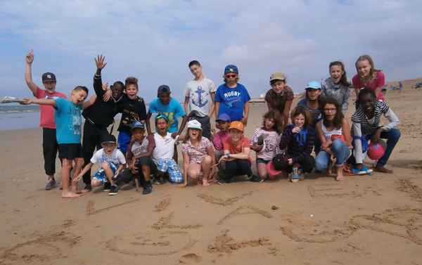 Colonie de vacances, séjours vacances, enfants, oul, St Jean de Monts, plage 2, été 2017