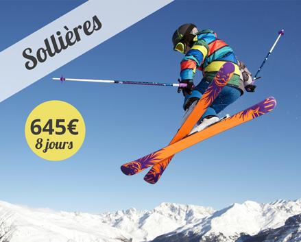 Colonie de vacances, centre, ski, hiver, Sollières : oul 2018