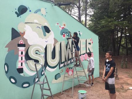 Colonie de vacances, séjours vacances enfants, oul, St Jean de Monts, graffiti été 2020