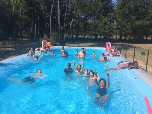 Colonie de vacances, séjours vacances, enfants, oul-St Jean de Monts, piscine, été 2019