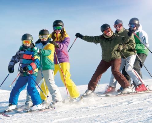 Centre colonies, vacances, camps, neige, hiver, ski, Combloux, vignette