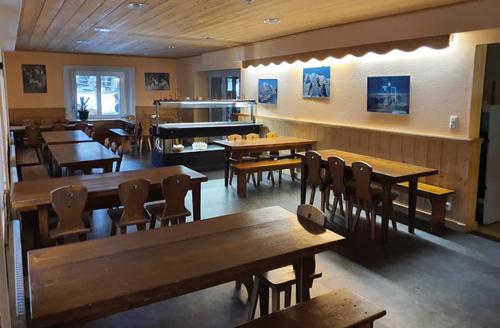 Centre Combloux, vacances, classes, colonie, bâtiment, salle à manger