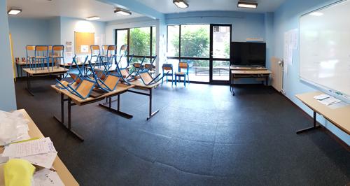 Centre Combloux, vacances, classes, colonie, bâtiment, salle de classe