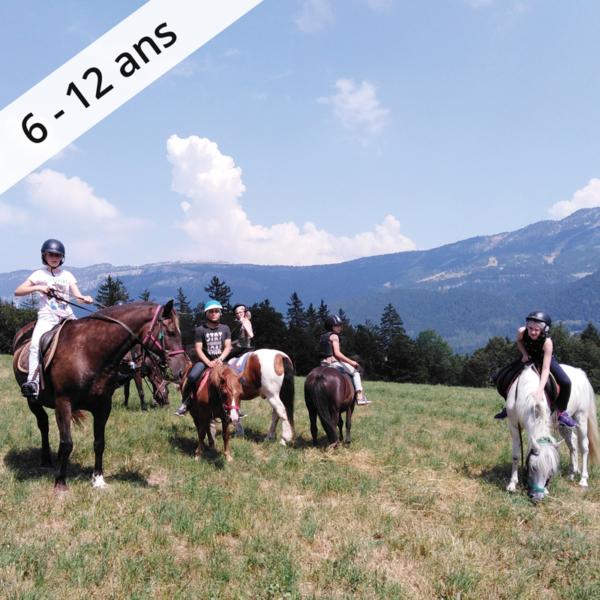 colonie de vacances sejour enfant lans en vercors a cheval dans le vercors 6-12 ans OUL
