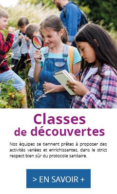 Classes de découvertes, séjours scolaires, oul 2022