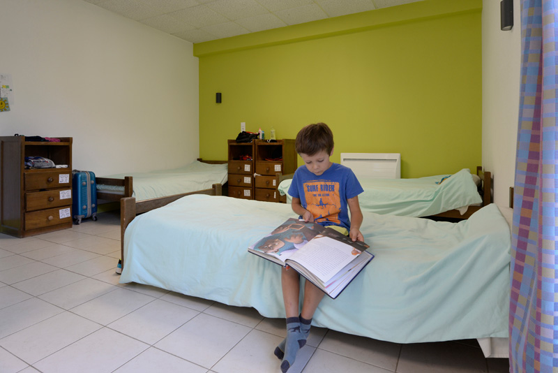 Colonie de vacances, séjours, classes de découvertes, famille, Ingrannes, chambre 1